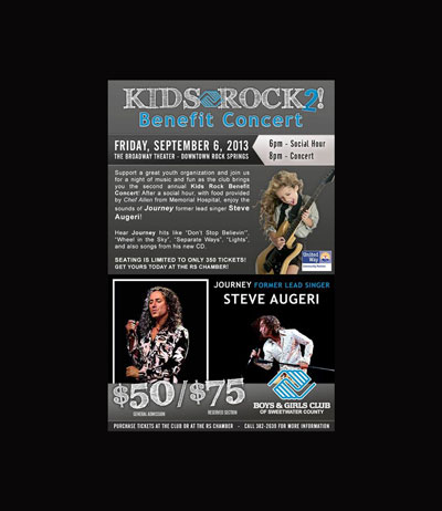 Friday's 'Kids Rock 2!' concert to benefit the Boys & Girls Club of Sweetwater County