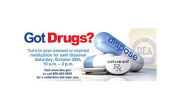 Sheriff's Office and Rock Springs Police Department collecting unwanted prescription drugs on Saturday