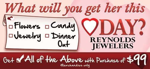 Valentine's Day Made Easy by Reynolds Jewelers