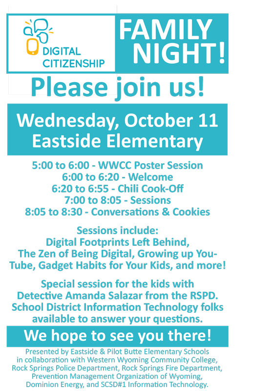 Eastside Elementary School Invites Community To Fifth Annual Digital Citizenship Family Night And Chili Cook-Off