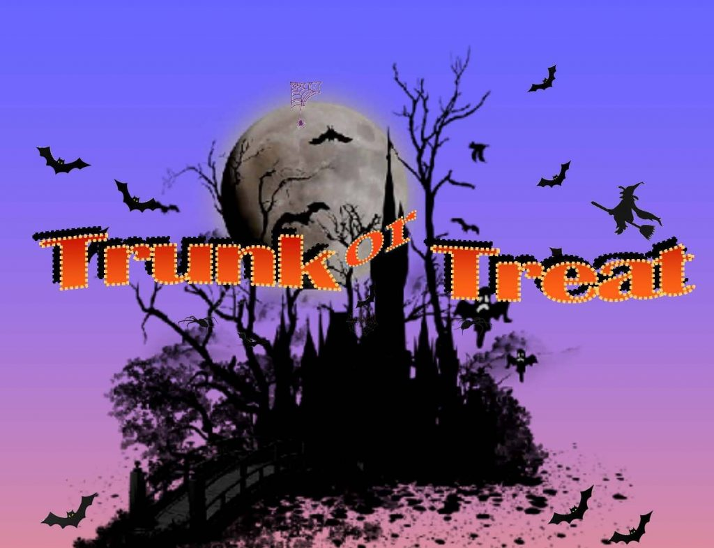 Trunk or Treat Event Saturday!
