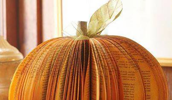 Altered Books Pumpkin Crafts Thursday!