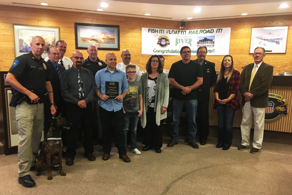 Green River Assembly of God Church Recognized for Donations to GRPD and GRFD