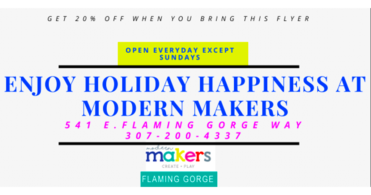 Spend Christmas with Modern Makers!