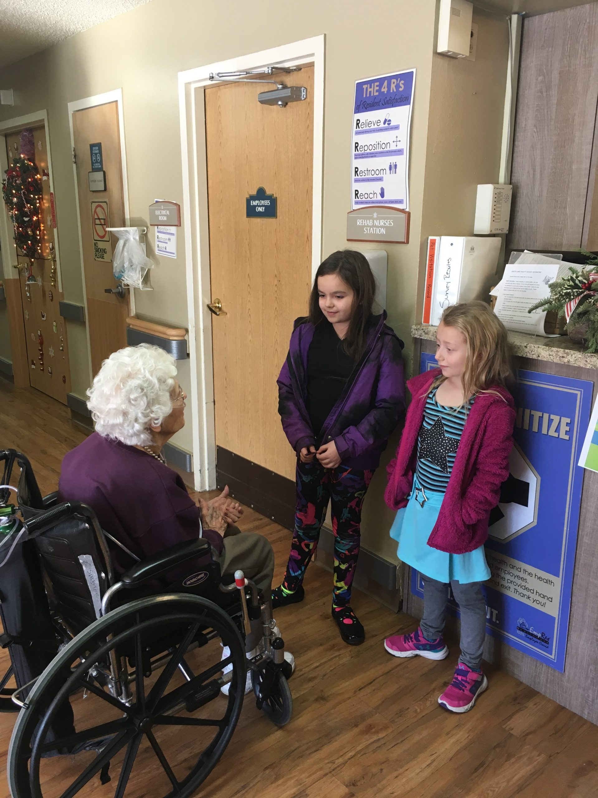 Stagecoach Elementary Second Graders Deliver Songs And Posters To Sage View and Deer Trail Residents