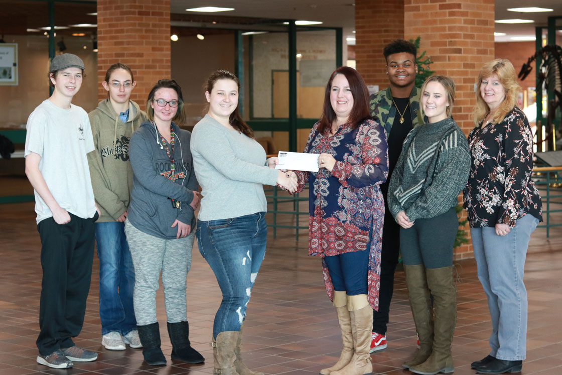 WWCC ACE-IT Club Donates Money To Boy's & Girls Club For The Sweetwater Tree Of Sharing Program