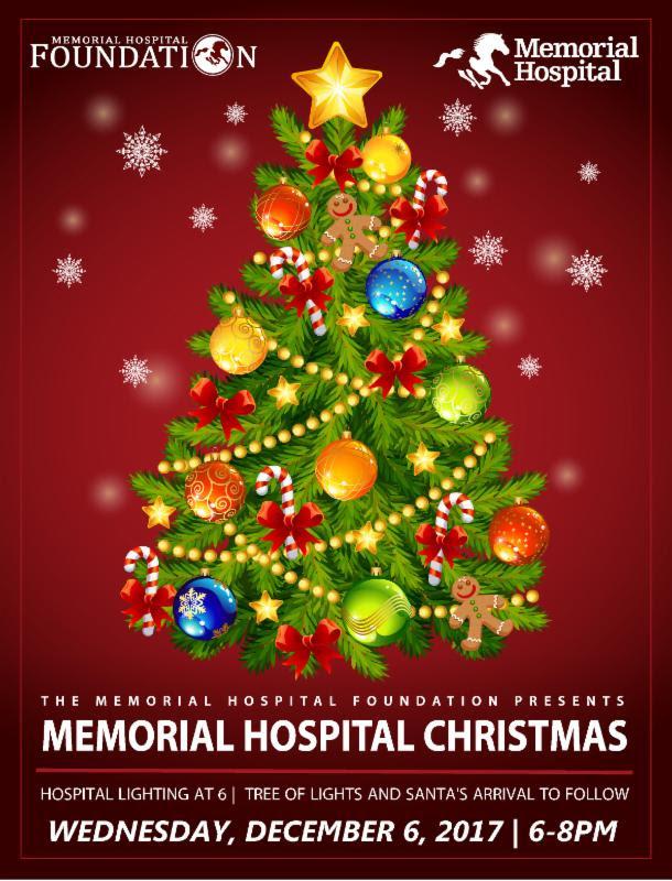 Memorial Hospital Will Host Memorial Hospital Christmas Lighting Tonight