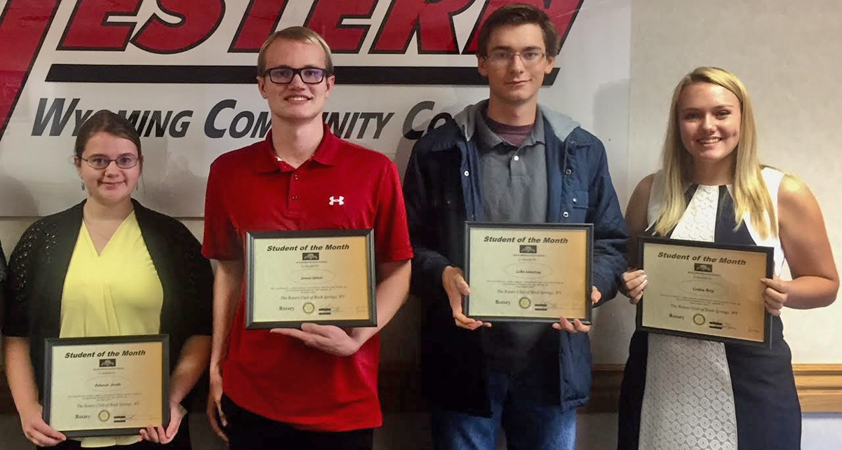 Rotary Club Announces Rock Springs High School Students of the Month