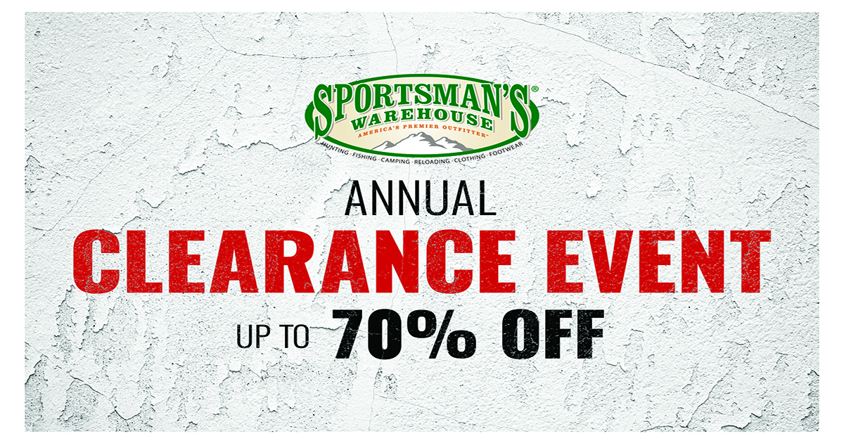 Get up to 70% Off during Sportsman's Clearance Sale!