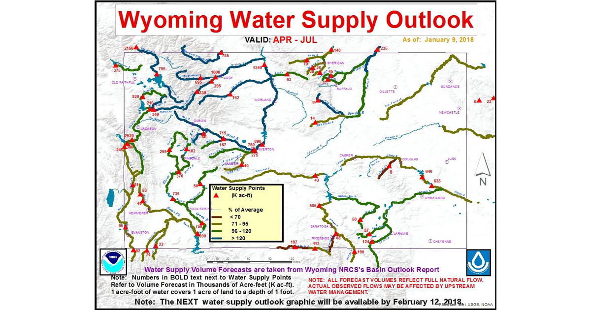Water Supply Outlook Forecasts Below to Normal Streamflow for Green River
