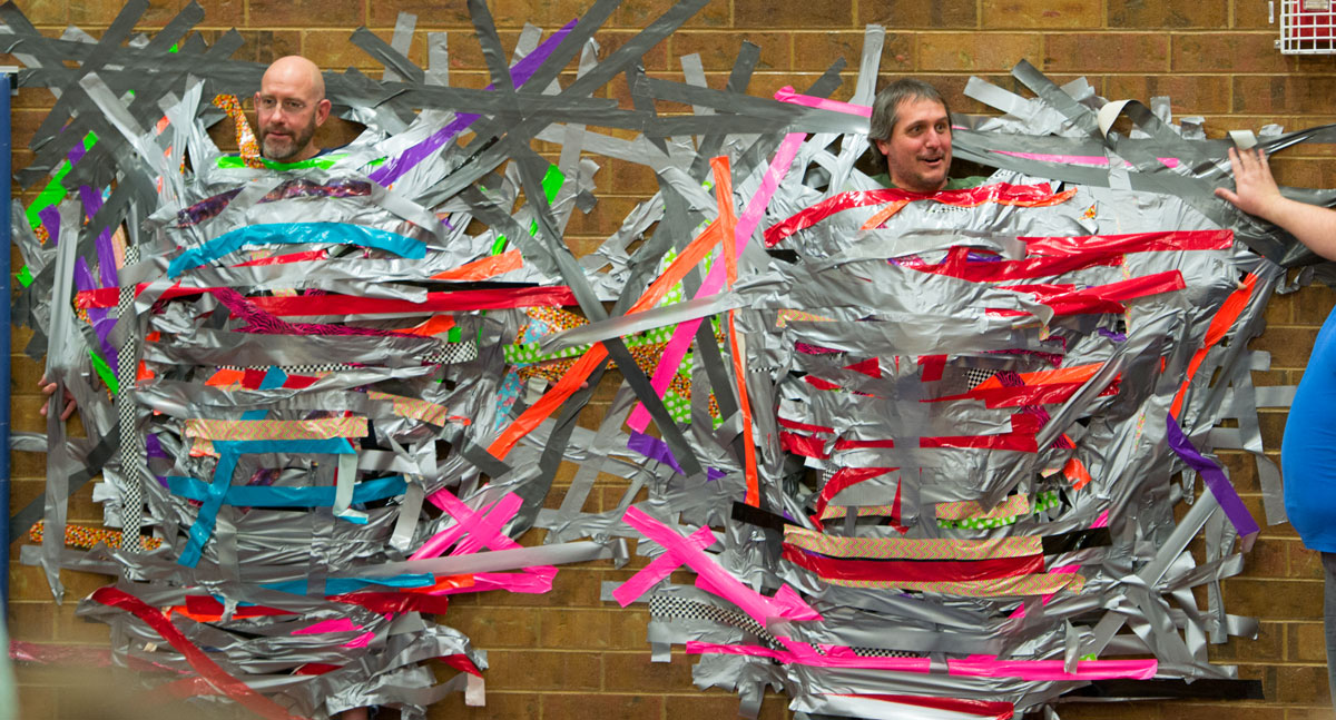 PHOTOS: Truman Elementary Tapes Principal and Teacher to the Wall