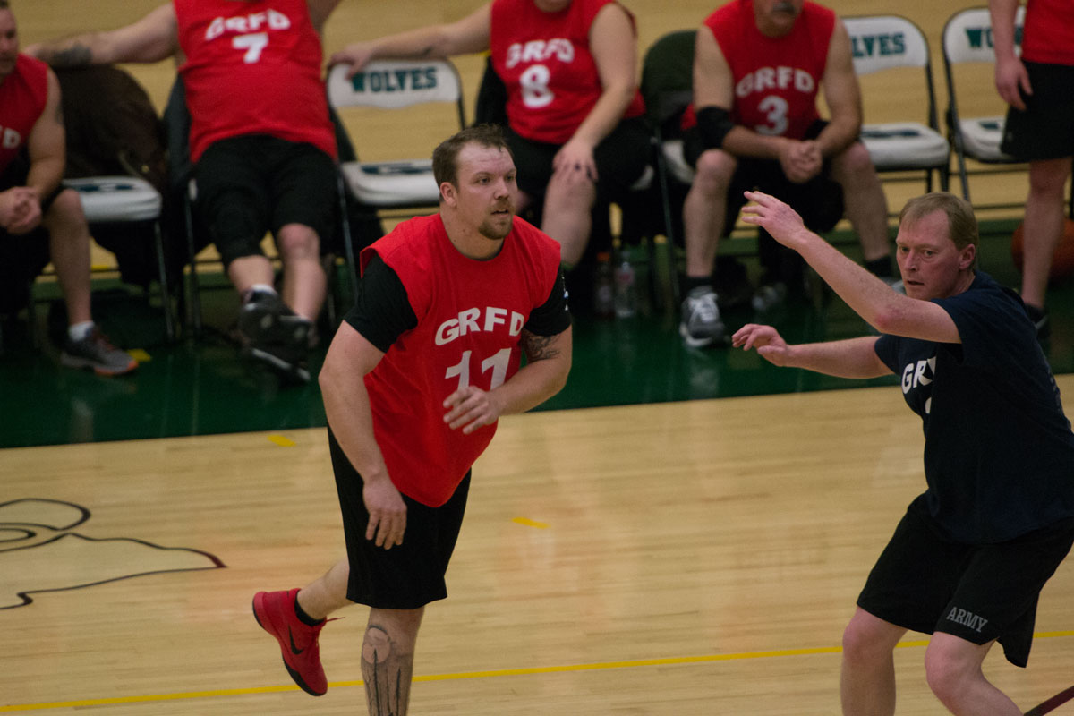 PHOTOS: GRFD Wins Nozzles and Cuffs Make-A-Wish Basketball Game