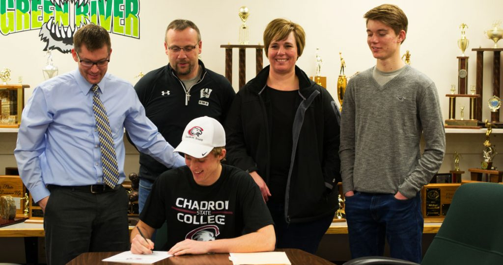 GRHS Football Player Signs with Chadron State College