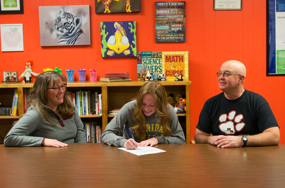 RSHS Soccer Player Signs with Sheridan College