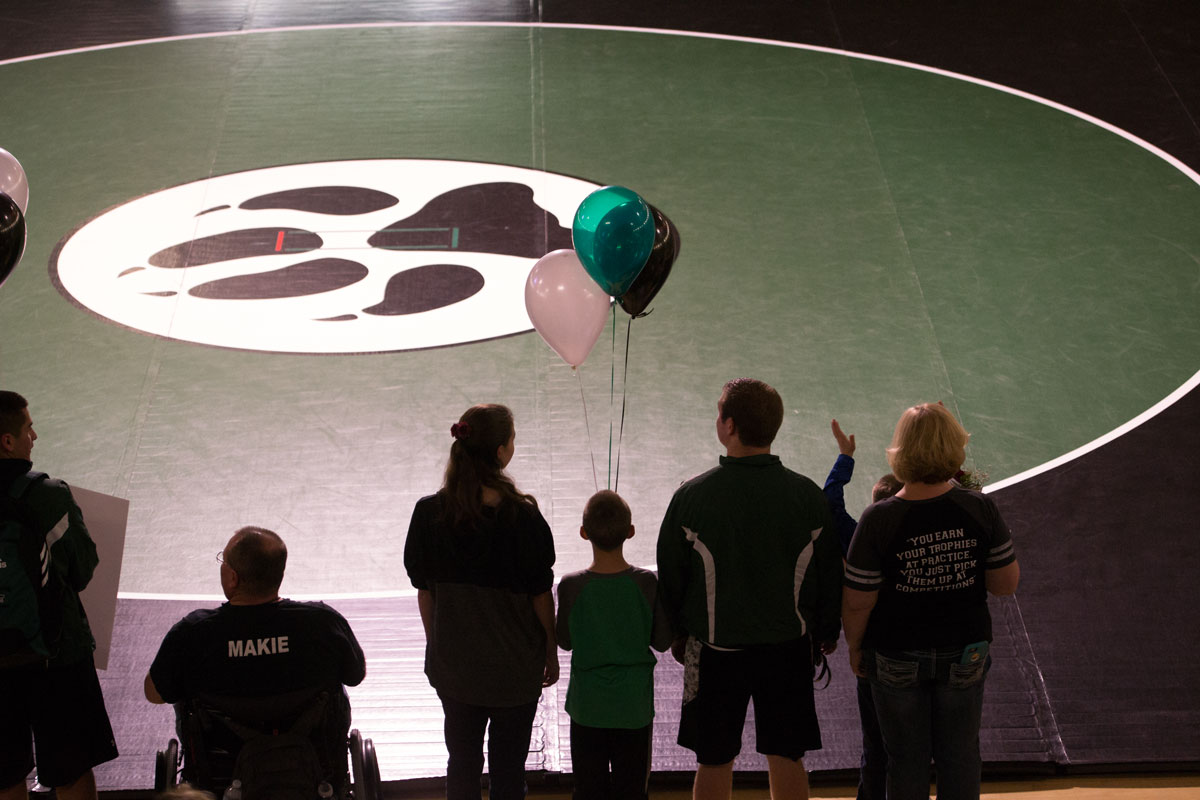 Wolves Recognize Senior Wrestlers at Senior Night