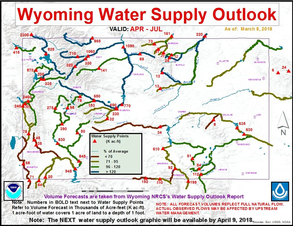 NWS Issues Wyoming Water Supply Outlook