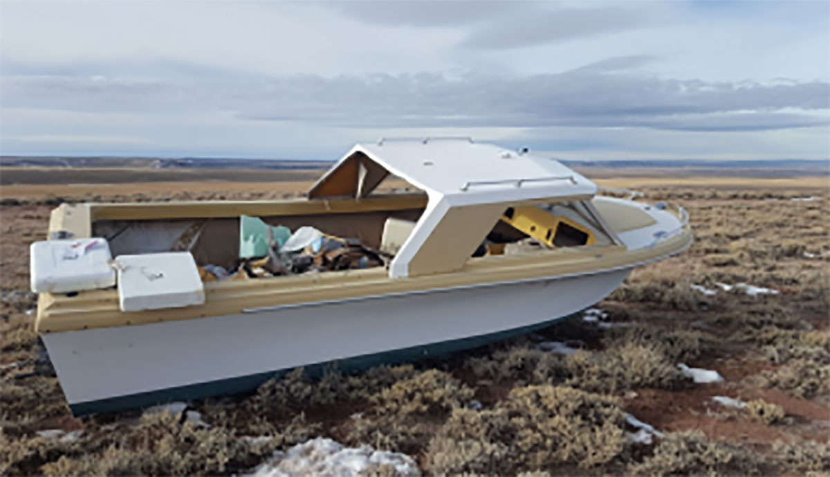 Boat Owner Cited For Dumping Watercraft In Desert