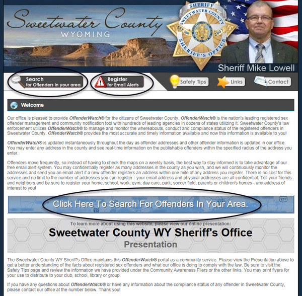 Changes, Upgrades To Sheriff's Office Registered Sex Offender Neighborhood Notification Program