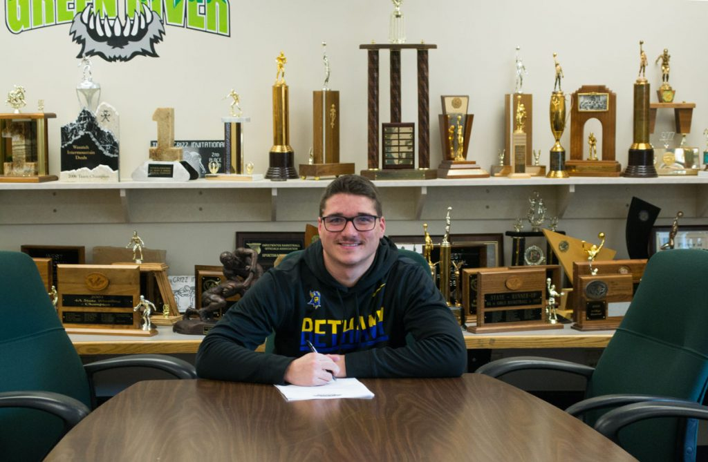 GRHS Football Player Signs Letter of Intent to Play at Bethany College