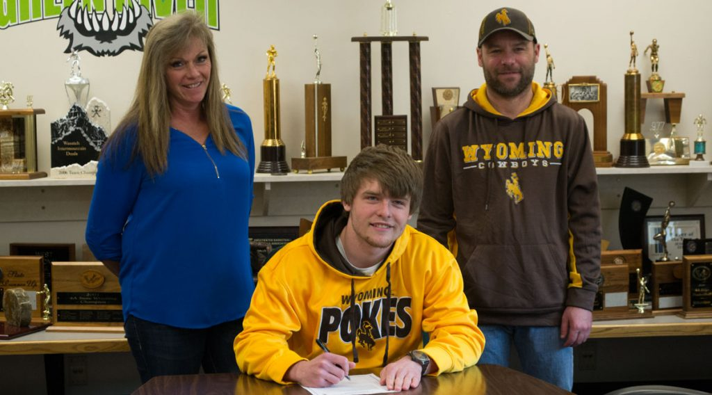 GRHS Football Standout Signs Letter of Intent to Play at UW