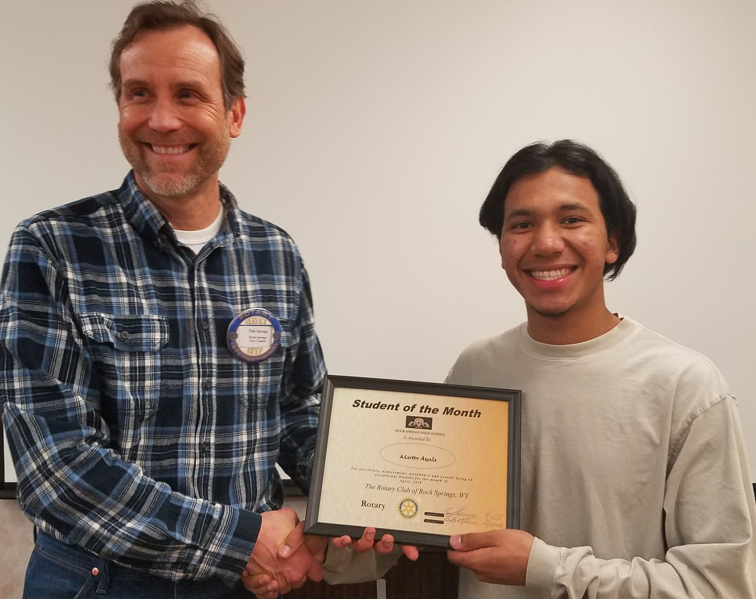 Rotary Club Rock Springs High School Student of the Month