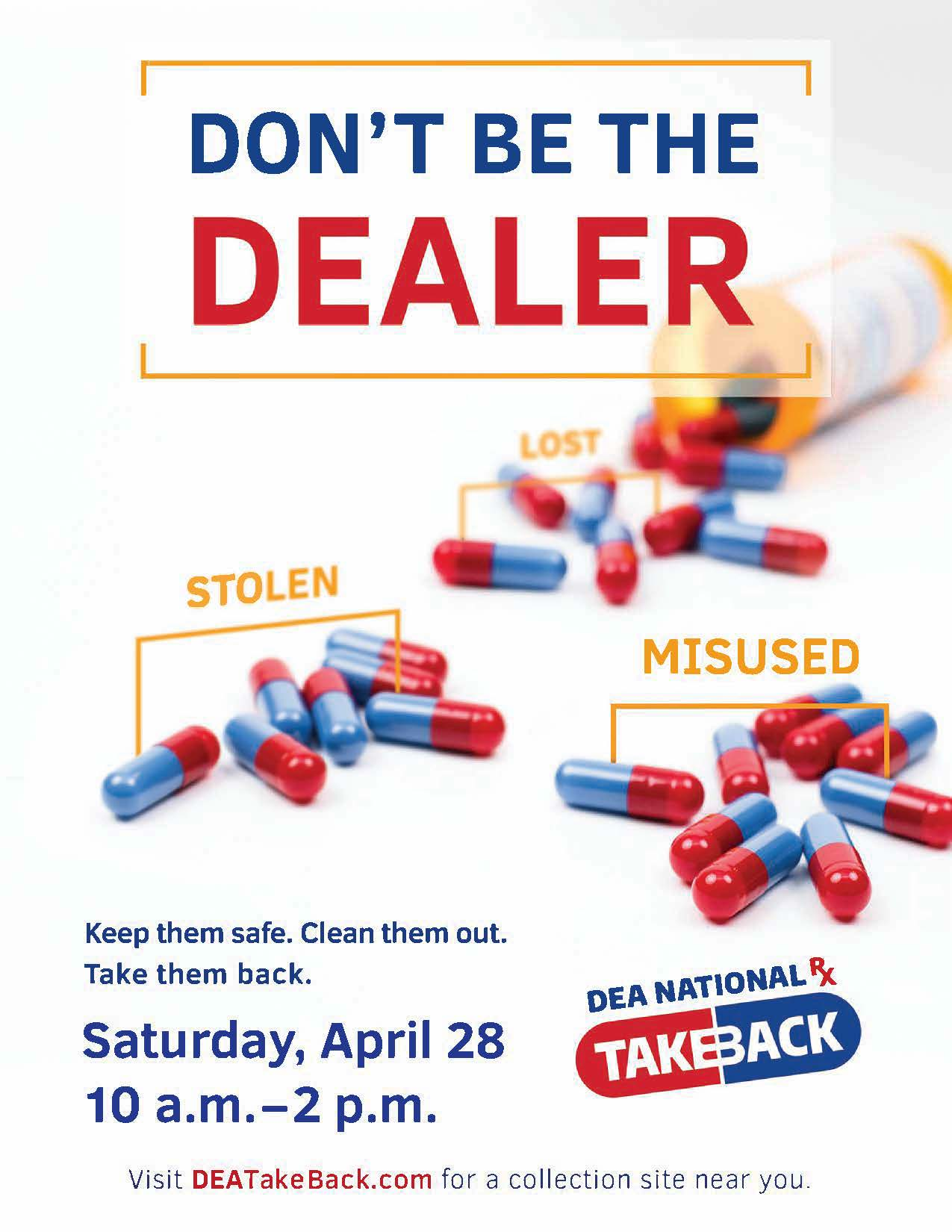 Green River Police Department Is Taking Back Unwanted Prescription Drugs April 28, 2018 At Smith's Food And Drug Store