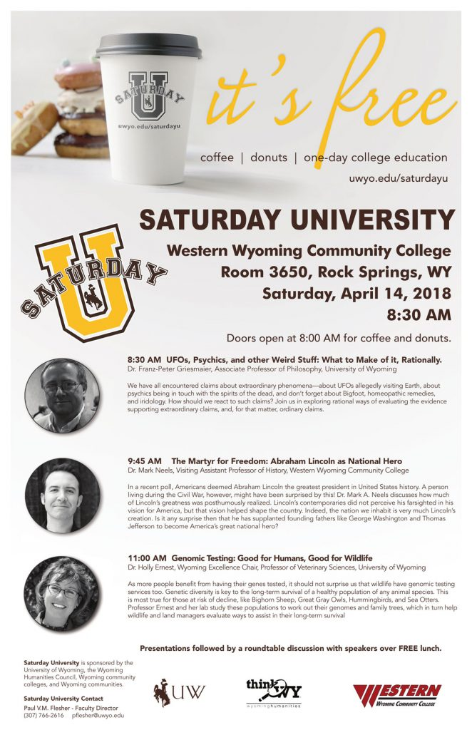 Saturday University April 14 At WWCC
