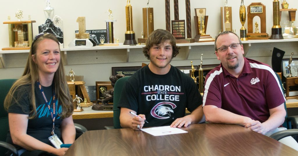 GRHS Student-Athlete Signs to Play Football at Chadron State College