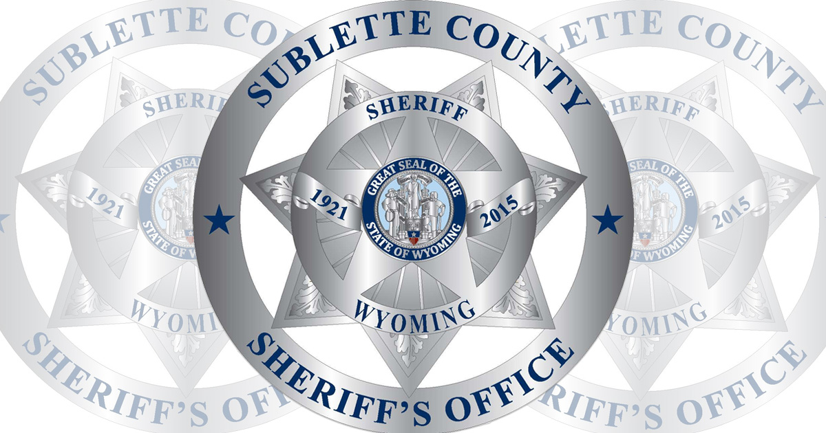 Sublette County Arrest Reports For August 27 to September 4