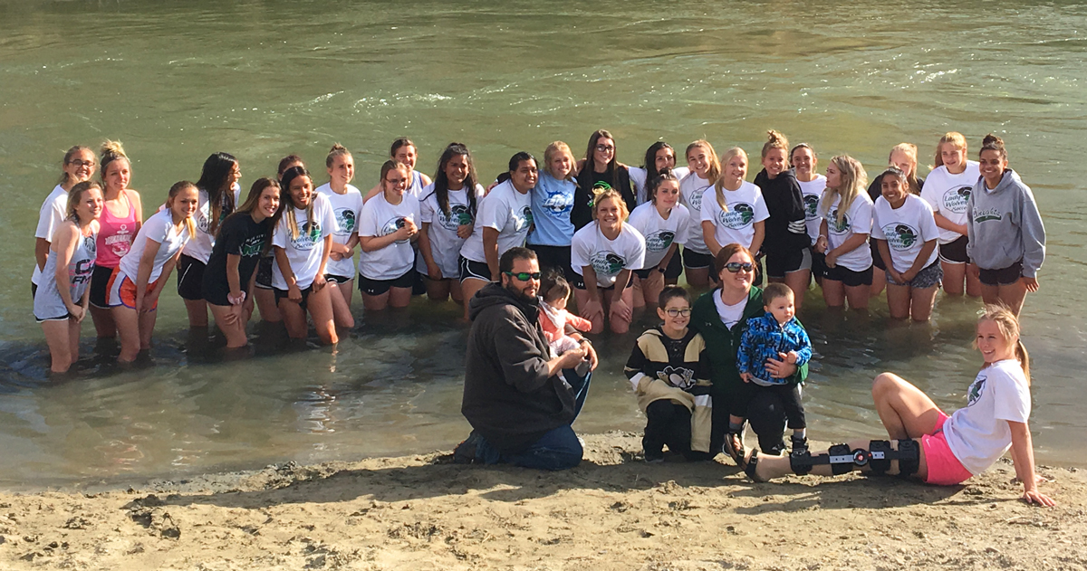 Lady Wolves Soccer Takes a Plunge for a Good Cause [PHOTOS]