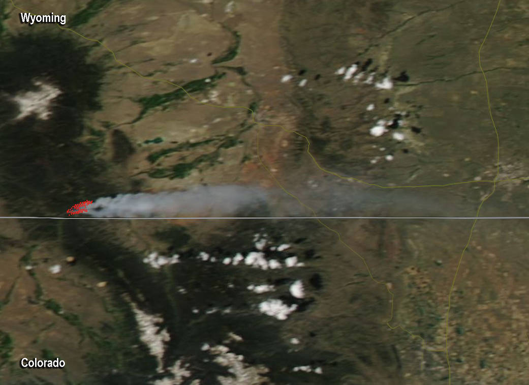 Badger Creek Fire Reaches 14,960 Acres, Can Be Seen From Space