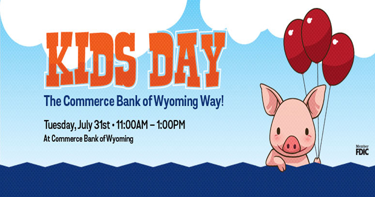 Commerce Bank of Wyoming Way Hosts Free Kids Day