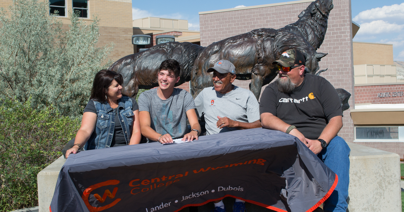 GRHS Runner Signs with Central Wyoming College
