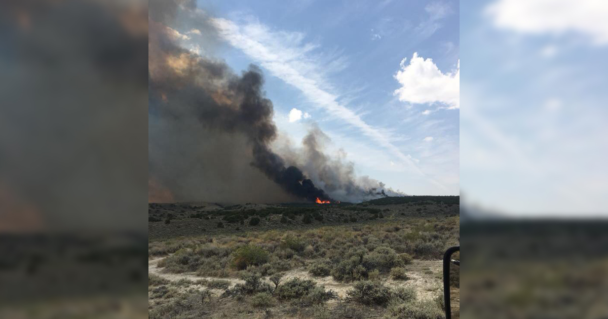 BREAKING: Wildland Fire East of Rock Springs