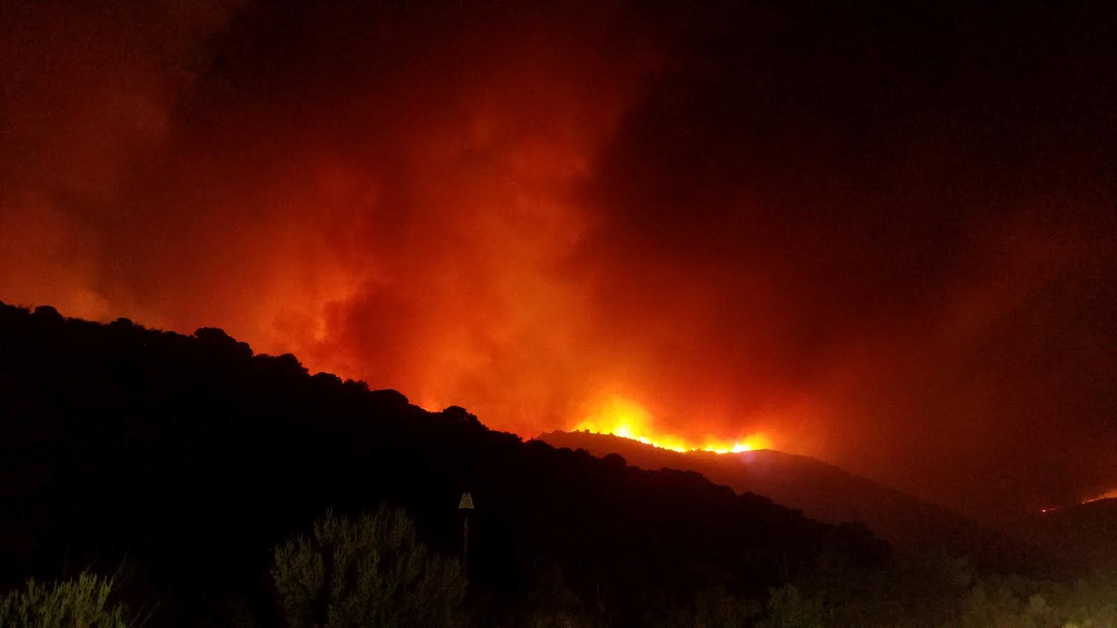 Laney Rim Fire Estimated at 13,198 Acres, 72% Contained [PHOTOS]