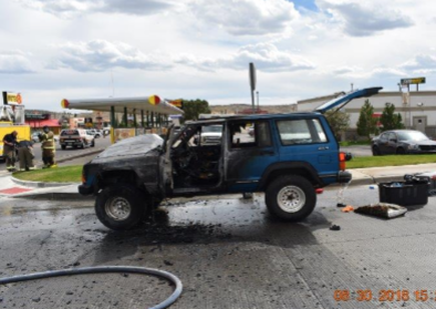 Faulty Oil Gasket Results in Vehicle Fire This Afternoon