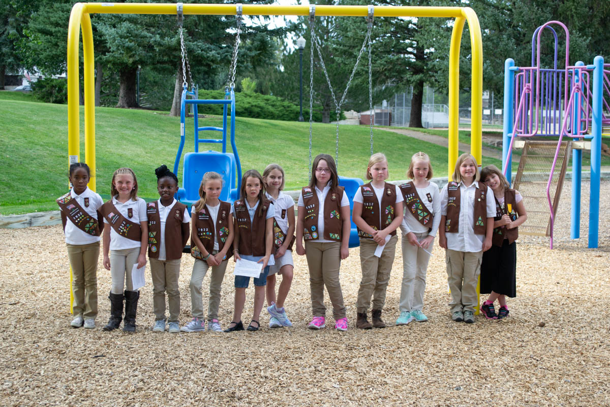 Girl Scouts Dedicate ADA Swing Set to the Children with Special Needs [PHOTOS]