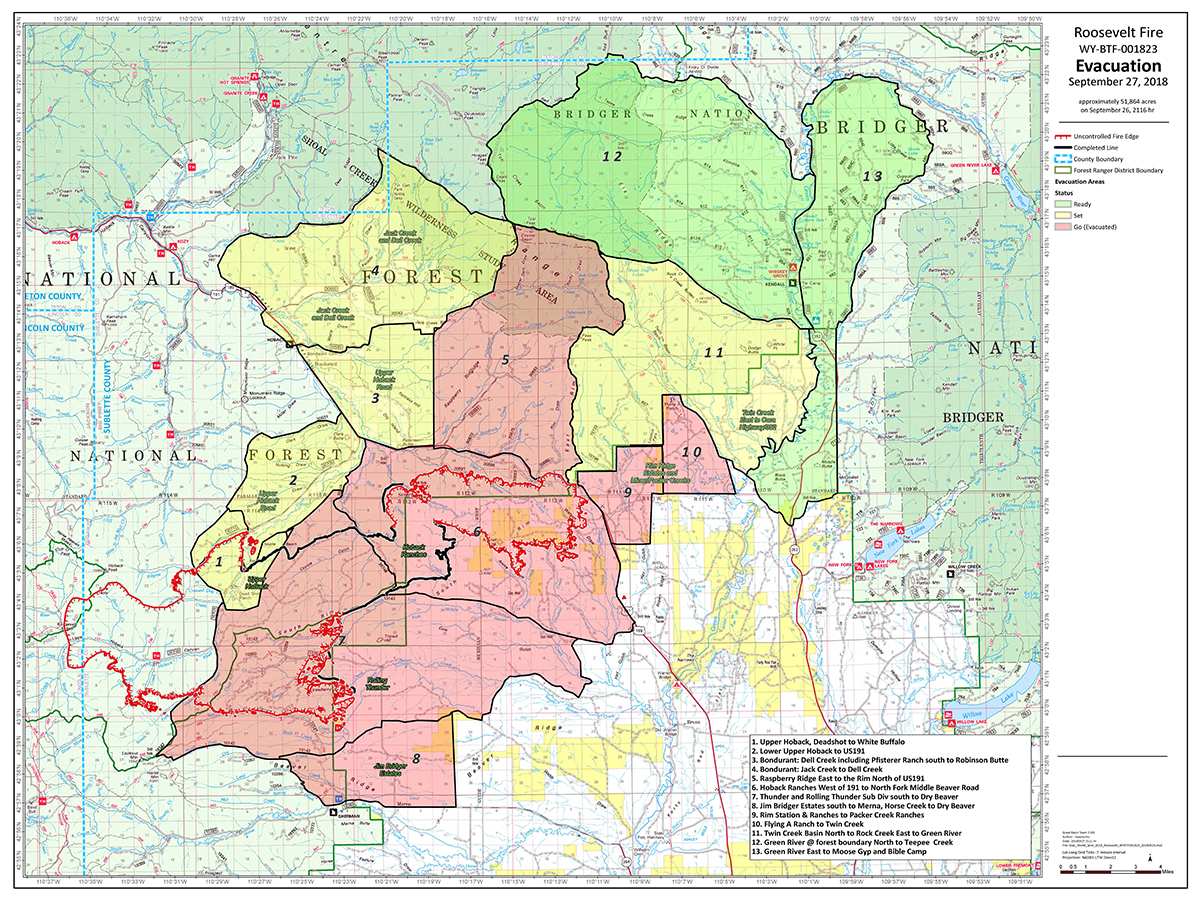UPDATE: Sublette County Sheriff's Office Downgrades Evacuation Areas