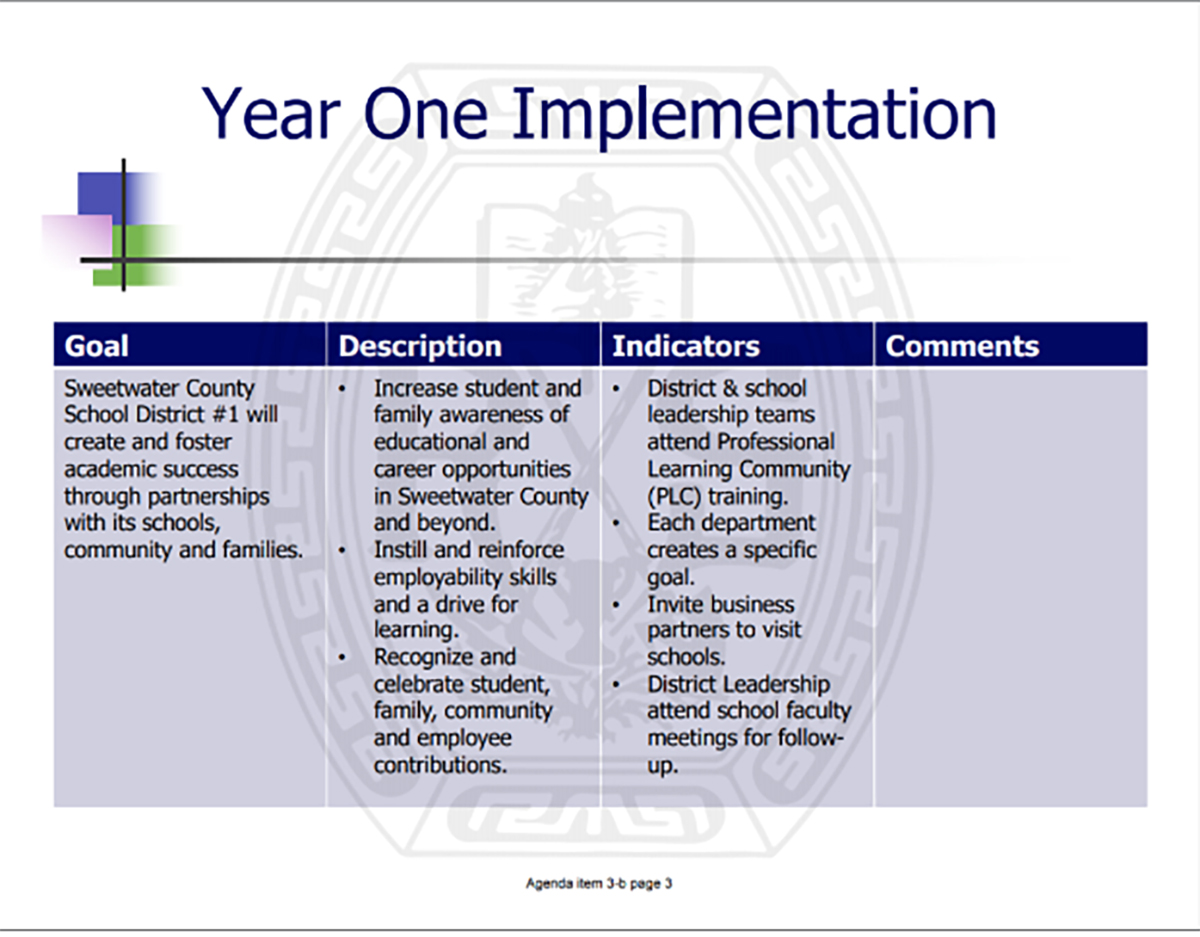 SCSD #1 Outlines New Strategic Plan Goals