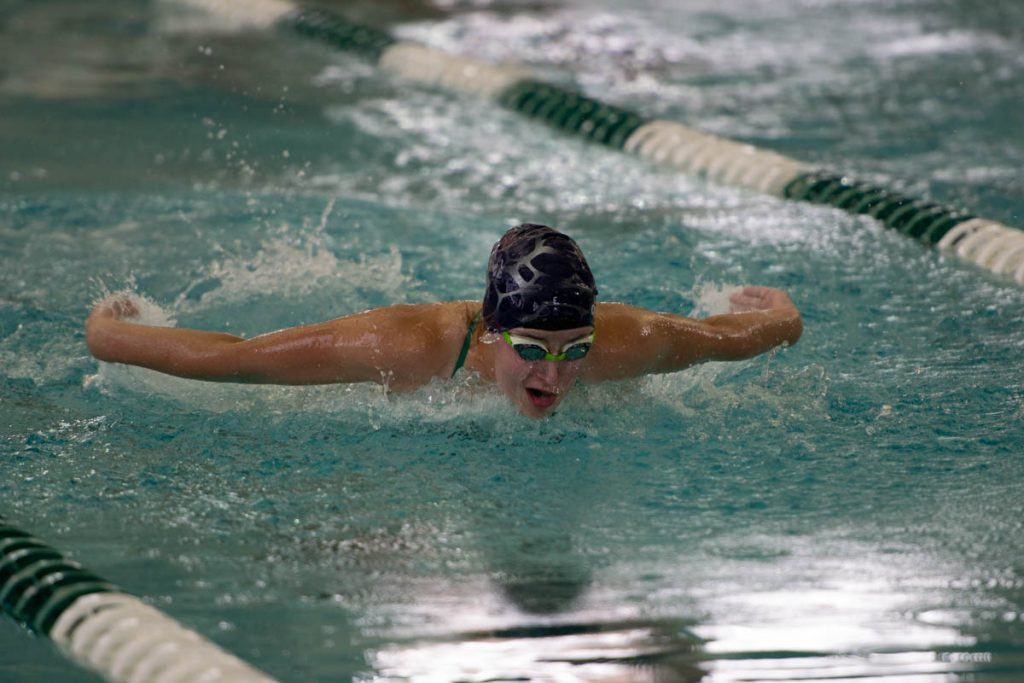 Lady Wolves Swim Team Takes First at Home Meet