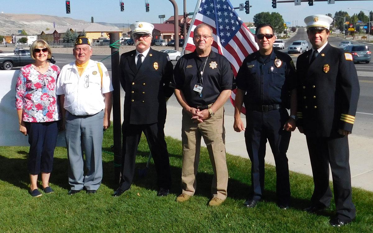 Chamber of Commerce Hosts Patriot Day Flag-Raising Ceremony