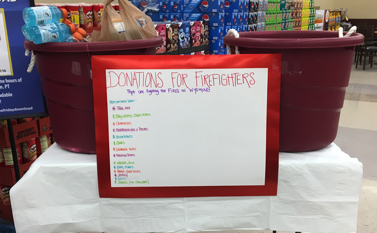 Smith's Taking Donations for Firefighters