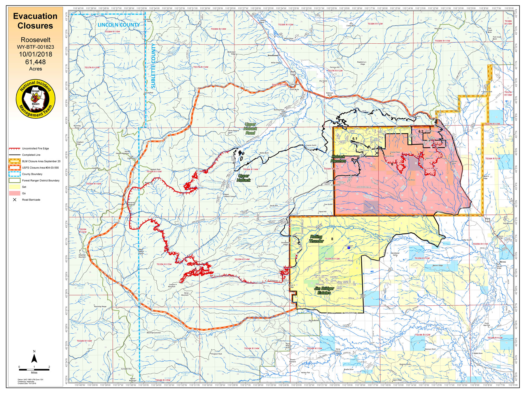 UPDATE: Roosevelt Fire Evacuation Zones Evaluated for Changes