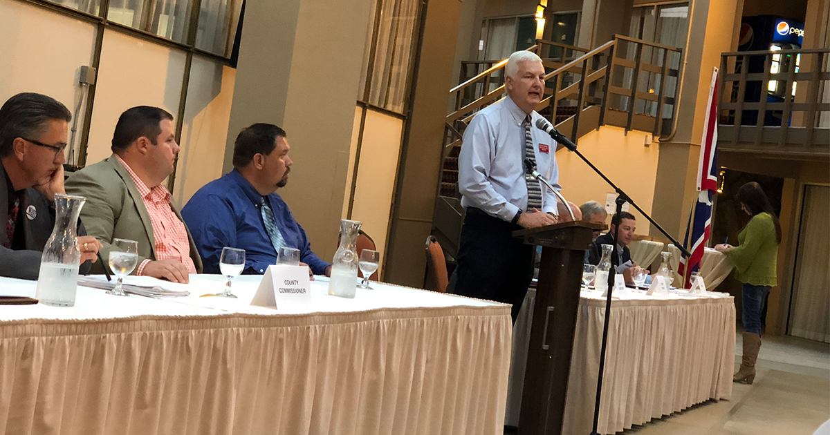Candidates Field Questions From Audience at Forum Hosted by Society of Petroleum Engineers