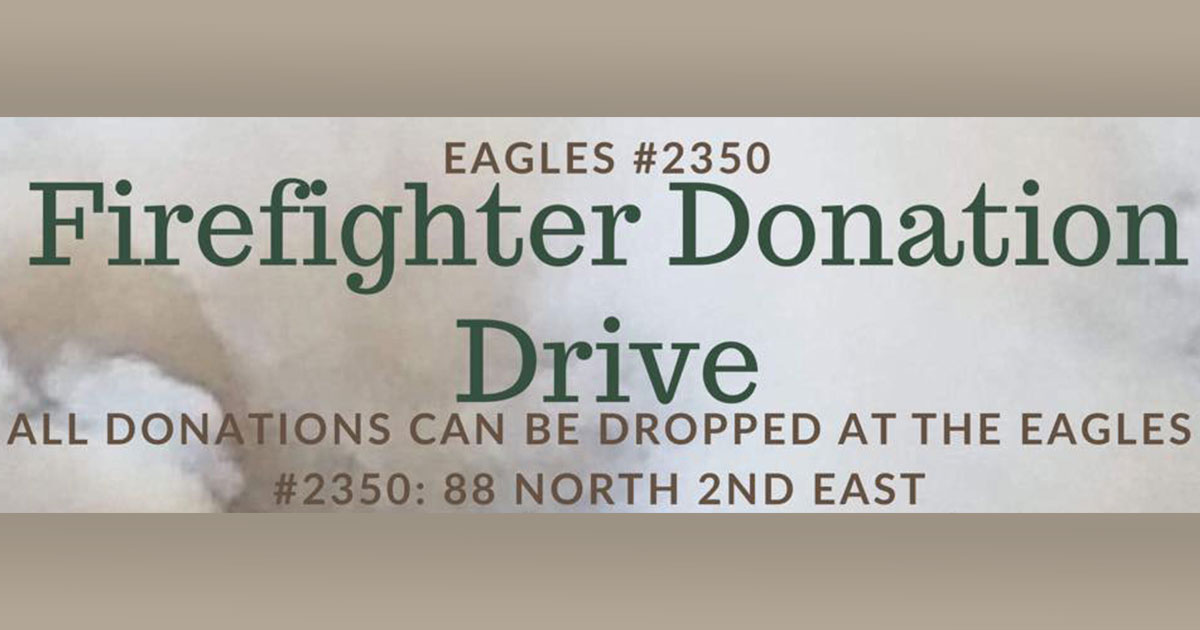 Fraternal Order of Eagles #2350 Hosts Donation Drive for Firefighters