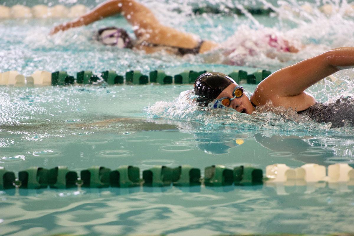 RSHS Girls Swimming and Diving Competes at Laramie Invitational