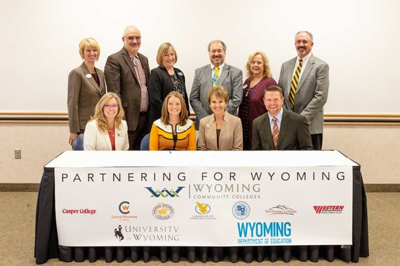 Wyoming Department of Education, University of Wyoming, Community Colleges Agree to Share Information