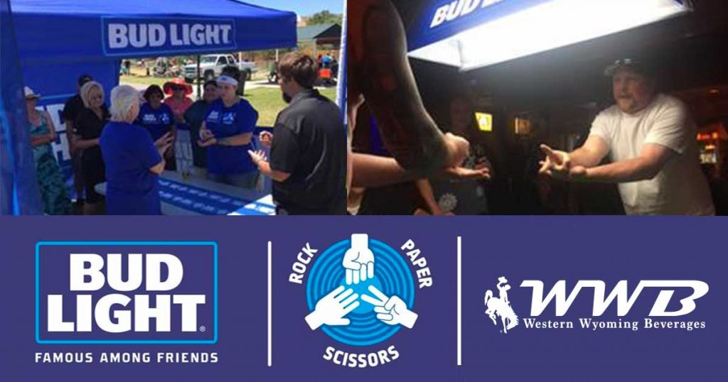 Bud Light 'Rock, Paper, Scissors' Finals This Weekend with Western Wyoming Beverages