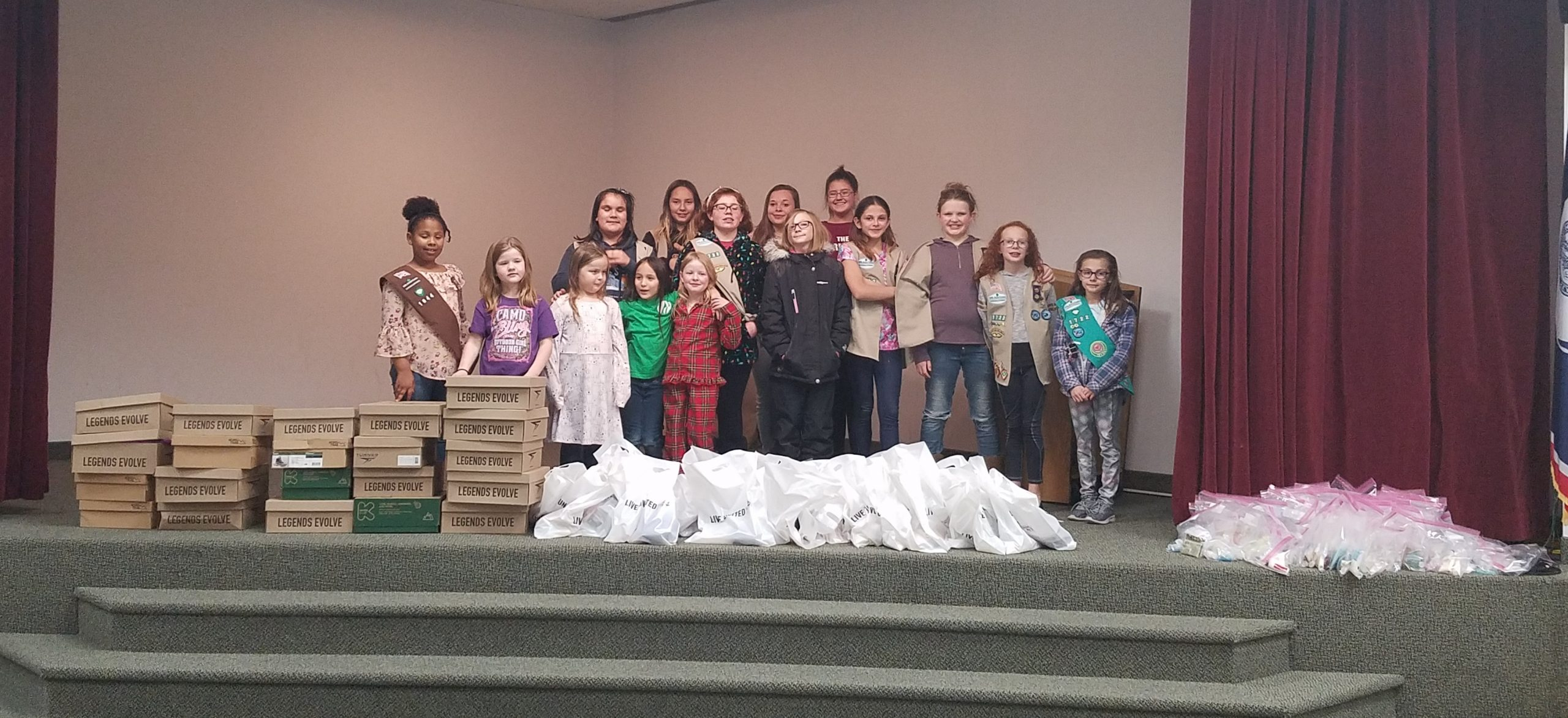Girl Scouts Collect Donations for Those in Need