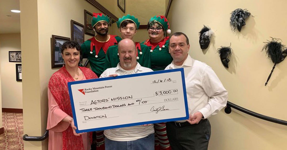 Rocky Mountain Power Donates $3,000 to Actor's Mission